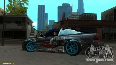 Nissan Silvia RPS13 CIAY para GTA San Andreas vista hacia atrás