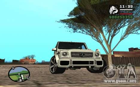 Mercedes-Benz G65 AMG para la vista superior GTA San Andreas