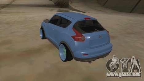 Nissan Juke Lowrider para la visión correcta GTA San Andreas