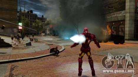 Hierro hombre IV v 2.0 para GTA 4 octavo de pantalla