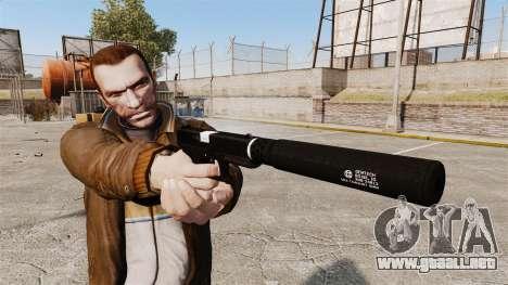 Glock 17 pistola autocargable v1 para GTA 4 tercera pantalla