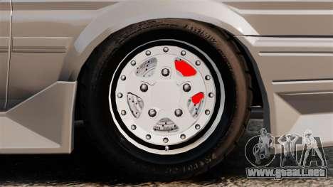 Toyota Corolla GT-S AE86 Trueno para GTA 4 vista hacia atrás