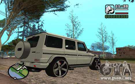 Mercedes-Benz G65 AMG para vista lateral GTA San Andreas
