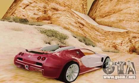 Bugatti Veyron 16.4 Concept para la visión correcta GTA San Andreas