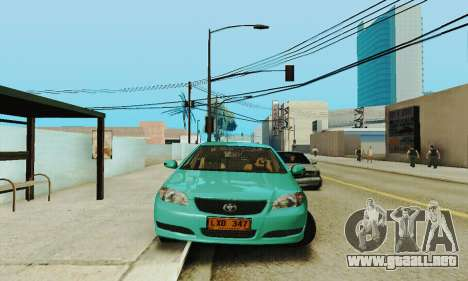Toyota Corolla City Mastercab para GTA San Andreas vista hacia atrás