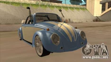 VW Beetle 1969 para GTA San Andreas left