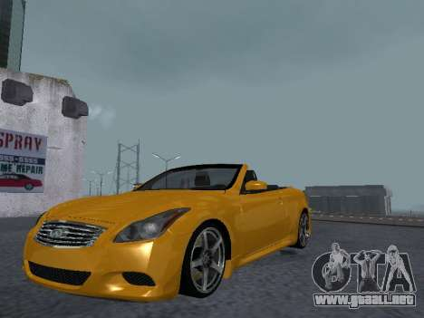 Infiniti G37 S Cabriolet para GTA San Andreas vista hacia atrás