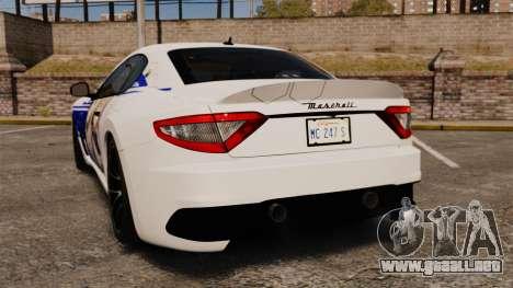 Maserati MC Stradale Infinite Stratos para GTA 4 Vista posterior izquierda