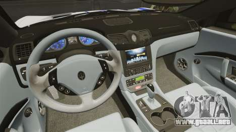 Maserati MC Stradale Infinite Stratos para GTA 4 vista interior