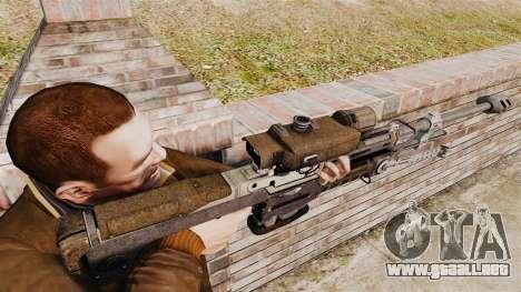 Rifle de francotirador Halo Reach SRS 99 para GTA 4 segundos de pantalla