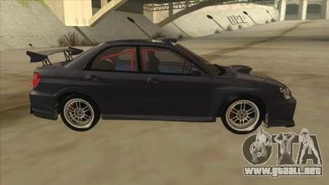 Subaru Impreza WRX STI Drift 2004 para GTA San Andreas vista posterior izquierda