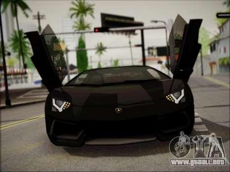 Lamborghini Aventador LP700 para GTA San Andreas vista hacia atrás