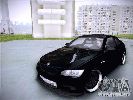 BMW M3 E92 Hamann 2012 para GTA San Andreas vista hacia atrás
