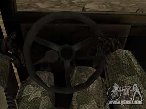 Hamvee M-1025 de Battlefiled 2 para visión interna GTA San Andreas