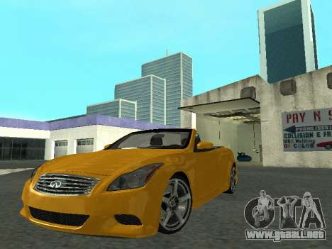 Infiniti G37 S Cabriolet para GTA San Andreas vista posterior izquierda