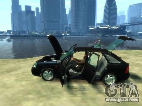 Lada Priora para GTA 4 vista hacia atrás