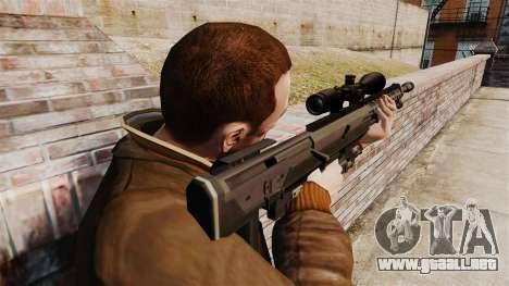 El rifle DSR-1 para GTA 4 segundos de pantalla