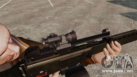 Rifle de asalto MG36 v3 H & K para GTA 4 adelante de pantalla