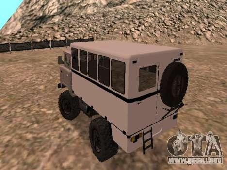 GAZ 66 ver para GTA San Andreas vista posterior izquierda