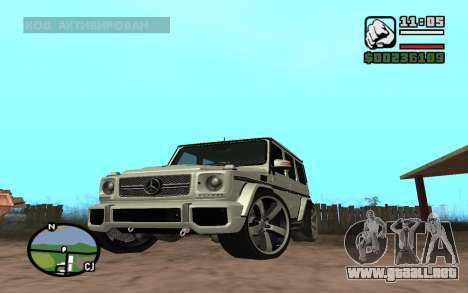 Mercedes-Benz G65 AMG para GTA San Andreas left
