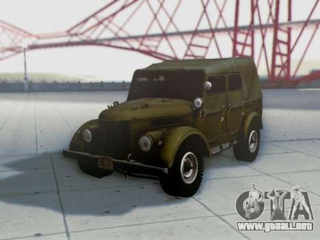 UAZ-69A para vista inferior GTA San Andreas