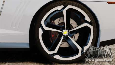 Chevrolet Camaro ZL1 2012 para GTA 4 vista hacia atrás