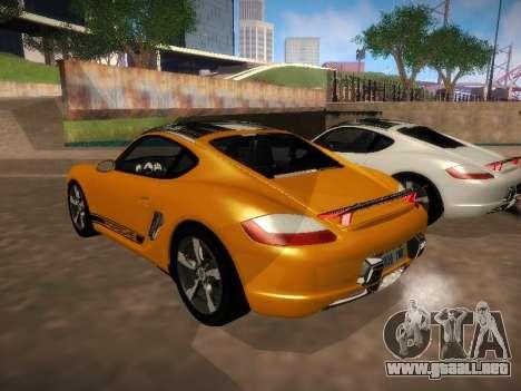 Porsche Cayman R 2007 para la visión correcta GTA San Andreas