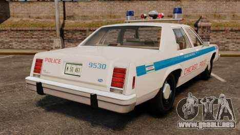 Ford LTD Crown Victoria 1987 [ELS] para GTA 4 Vista posterior izquierda