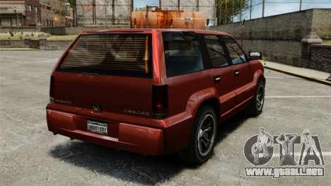 Cabalgata actualizado para GTA 4 Vista posterior izquierda