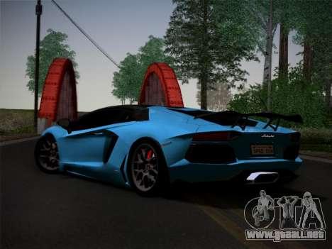 Lamborghini Aventador LP760-2 para GTA San Andreas vista hacia atrás