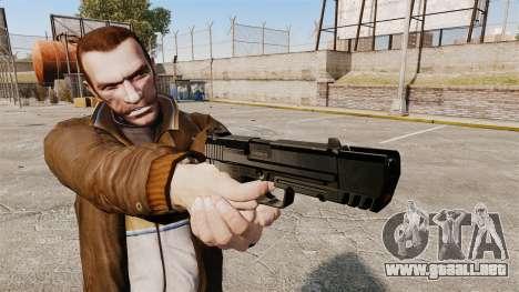 Pistola autocargable H & K USP v1 para GTA 4 tercera pantalla