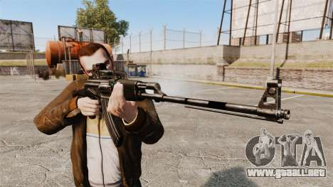 Ametralladora Kalashnikov ligera para GTA 4 tercera pantalla