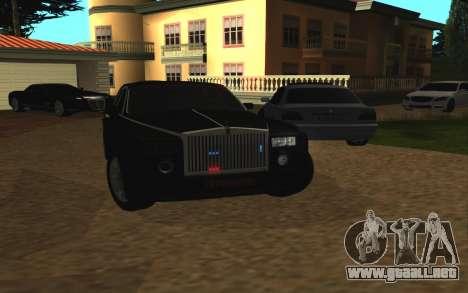 Rolls-Royce Phantom v2.0 para GTA San Andreas vista hacia atrás