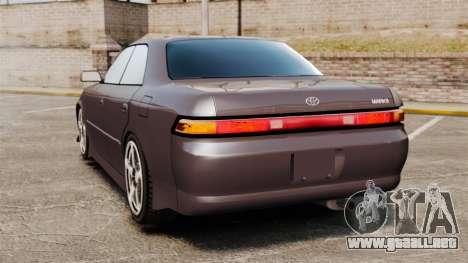 Toyota Mark II 1990 v1 para GTA 4 Vista posterior izquierda
