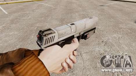 Pistola M6G del Magnum v2 para GTA 4 segundos de pantalla