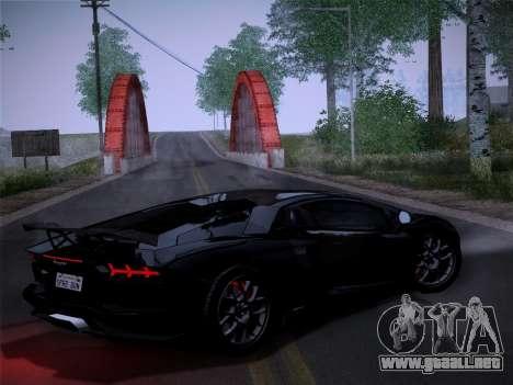 Lamborghini Aventador LP760-2 para GTA San Andreas vista posterior izquierda