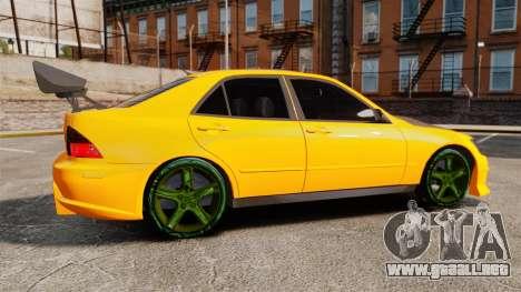 Lexus IS 300 para GTA 4 left