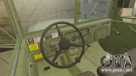 Militar básica del carro AM General M35A2 1950 para GTA 4 vista superior