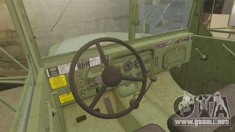 Militar básica del carro AM General M35A2 1950 para GTA 4 vista superior