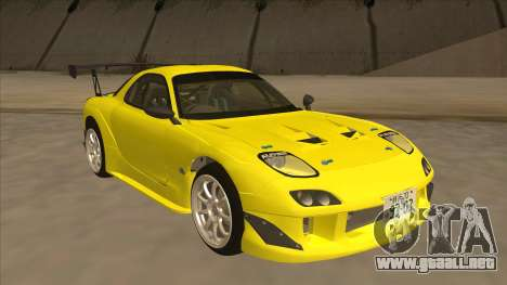Mazda RX7 FD3S RE Amemyia Touge Style para GTA San Andreas left