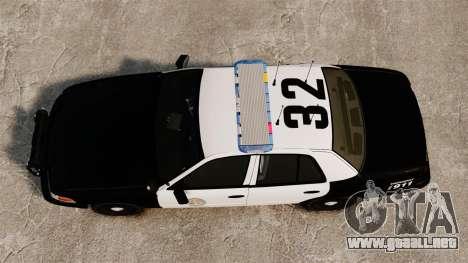 Ford Crown Victoria Police GTA V Textures ELS para GTA 4 visión correcta