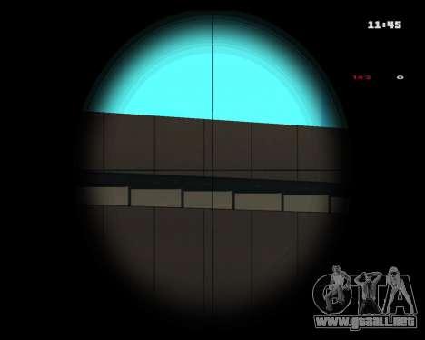 White Chrome Sniper Rifle para GTA San Andreas tercera pantalla