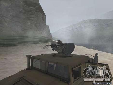 Hamvee M-1025 de Battlefiled 2 para la visión correcta GTA San Andreas