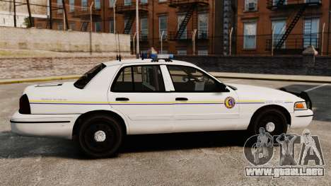 Ford Crown Victoria Police GTA V Textures ELS para GTA 4 left