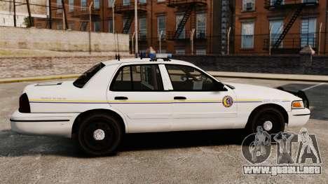 Ford Crown Victoria Police GTA V Textures ELS para GTA 4 left