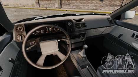 Toyota Corolla GT-S AE86 Trueno para GTA 4 vista interior