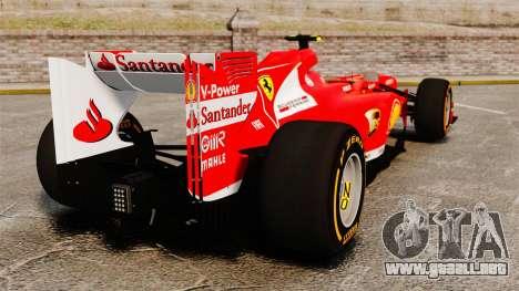 Ferrari F138 2013 v2 para GTA 4 Vista posterior izquierda