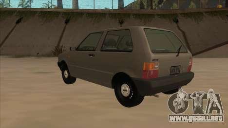 Fiat Uno 1995 para GTA San Andreas vista hacia atrás