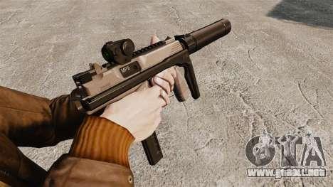 Táctica MP9 subfusil ametrallador v1 para GTA 4 segundos de pantalla