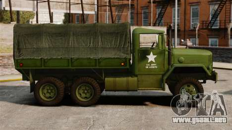 Militar básica del carro AM General M35A2 1950 para GTA 4 left